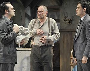 James Barry, Jonathan Epstein, and Tommy Schrider in The Caretaker.