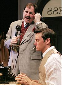 Richard Kind and Jason Butler Harner in The Front Page.