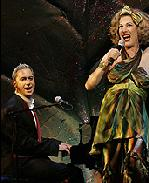 Kenny Mellman as Herb and Justin Bond as Kiki in <i>Kiki & Herb Alive on Broadway.</i>